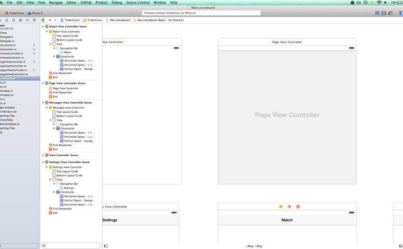 Week 2-  Tinder Clone. Breaking down into Objects. Setting up the PageViewController